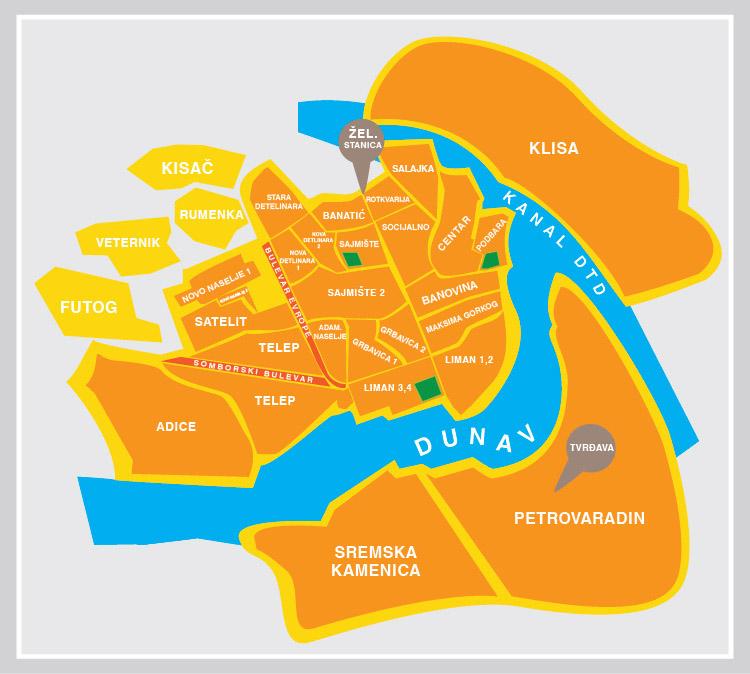 Novi Sad Osijek Mapa